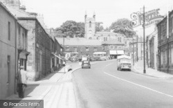 High Street And Church c.1955, Belford