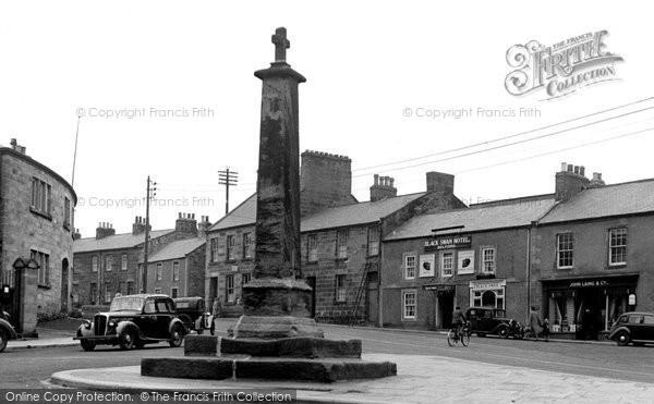 Belford, The Cross And Main Road c.1950