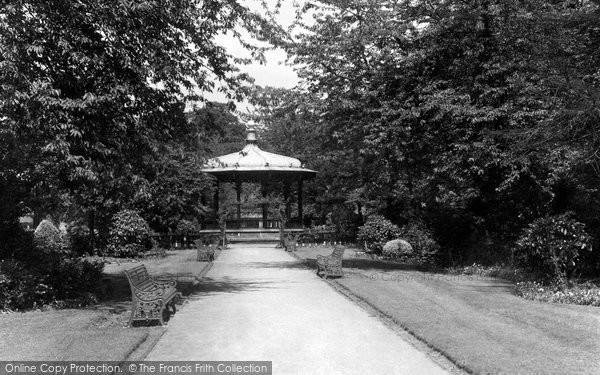 Photo of Belper, Gardens Bandstand c.1950