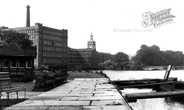 Belper,the River and Mill c1955,Derbyshire