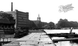 Belper, River Derwent And Mill c.1950