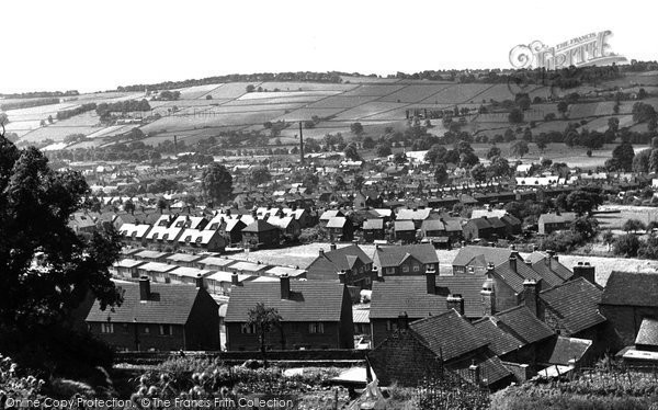 Photo of Belper, View From Festival Gardens c.1955