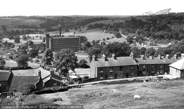 Belper, View From Festival Gardens c.1955