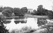 Belsay, The Hall And Lake c.1955