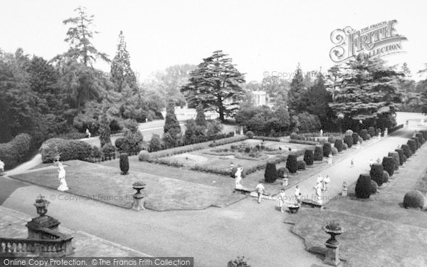 Photo of Belton, Ornamental Gardens, Belton House c.1955