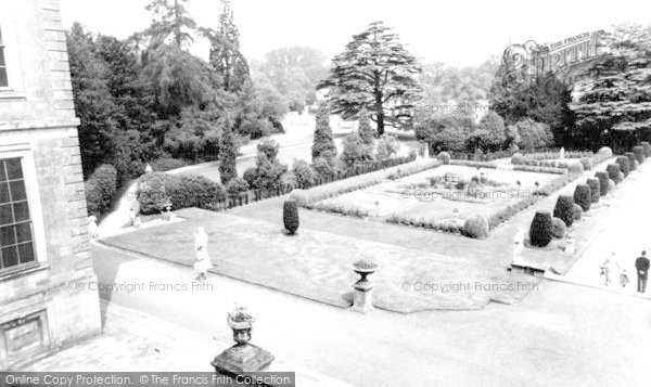 Photo of Belton, Ornamental Gardens, Belton House c.1965