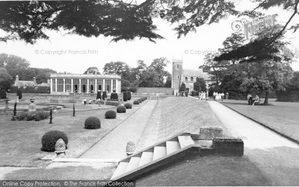 Photo of Belton, The Sunken Gardens, Belton House c.1955