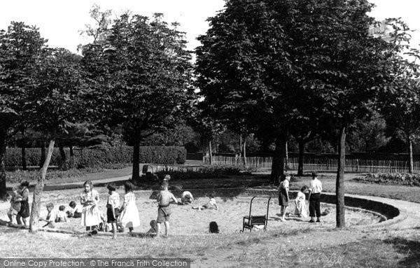 Belvedere, the Childrens Sand Playground c1955
