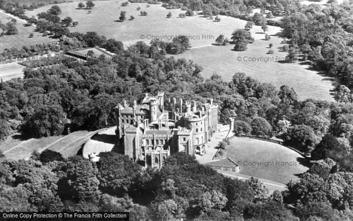 Belvoir Castle, From The Air c.1960