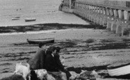 Bembridge, Children By The Lifeboat Pier c.1955