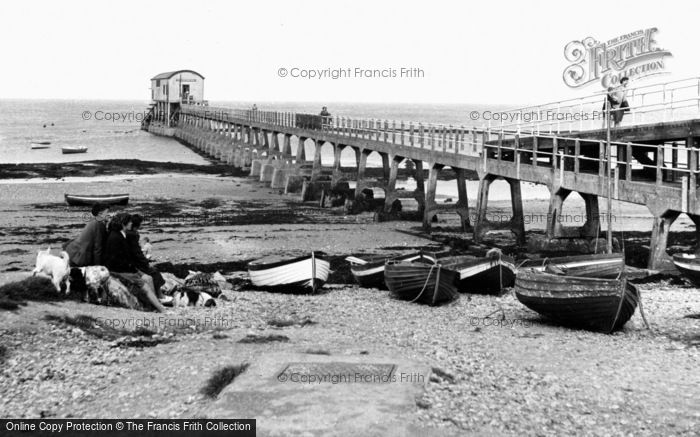 Bembridge, The Lifeboat Pier c.1955