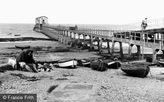 Bembridge, the Lifeboat Pier c1955