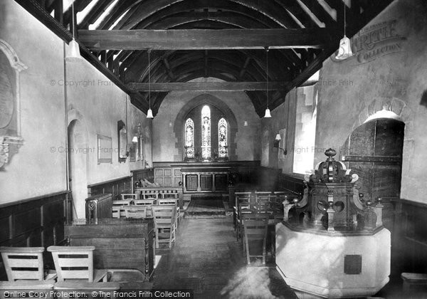 Bemerton, St Andrew's Church, The Interior 1919