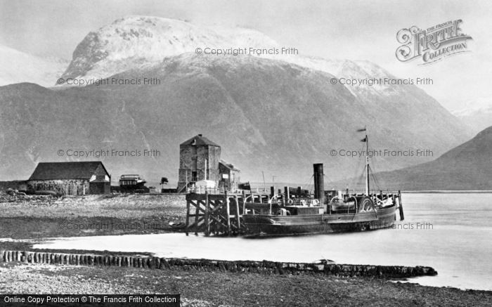 Ben Nevis, From Corpach 1890