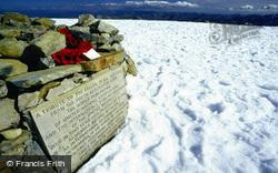 Memorial On Wide Summit Plateau c.1990, Ben Nevis