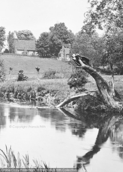 Photo of Bengeo, St Leonard's Church From The River 1929