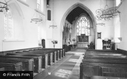 Benington, The Church Interior c.1960