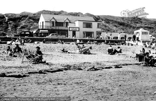 Benllech Bay, Beach And Lido Cafe c.1960