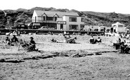 Benllech Bay, Beach And Lido Cafe c.1960