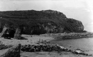 Benllech Bay, Rocks And Headland c.1935