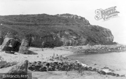 Benllech Bay, Rocks And Headland c.1935