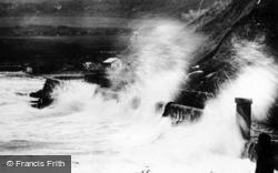 Benllech Bay, Rough Tide c.1935, Benllech