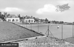 Benllech Bay, The Bowling Green And Tennis Courts c.1960