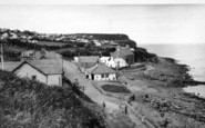 Benllech Bay, The Cliffs c.1955