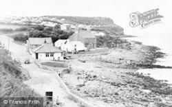 Benllech Bay, The Promenade And Cliffs c.1955
