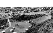 Benllech Bay, view of Caravan Sites c1960