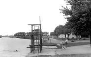 Benson, Riverside Swimming Place c.1955