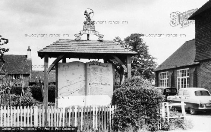 Photo of Bentley, The Village Sign c.1955