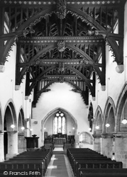 Bere Regis, The Church Nave c.1965