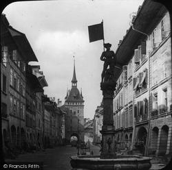 Berne, Marktgasse And Kafichthurm c.1885