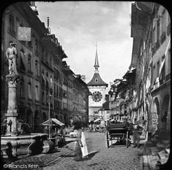 Marktgasse And Zeitglochthurm c.1879, Berne