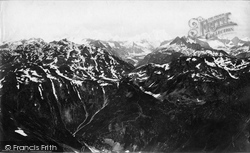 Berne, Oberland Mountains From Leichenstadt c.1875