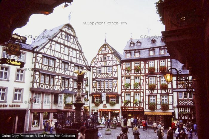Photo of Bernkastel Kues, Market Place And St Michael's Fountain 1982