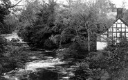 Berriew, River Rhiew c.1930