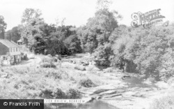 Berriew, The River Rhiew c.1955