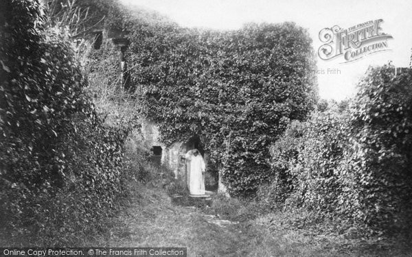 Photo of Berry Pomeroy, Castle, The Haunted Walk And 'ghost' 1905