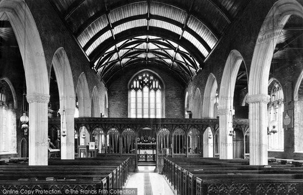 Photo of Berry Pomeroy, Church Interior 1890