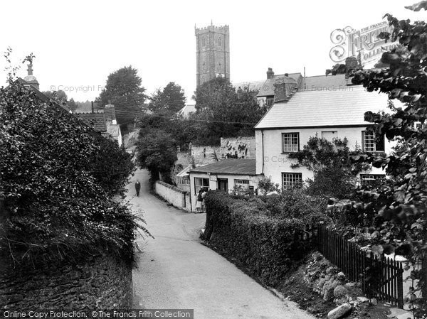 Berrynarbor, Post Office And St Peter's Church 1934