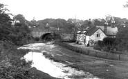 Bersham, The Bridge And Old House 1936