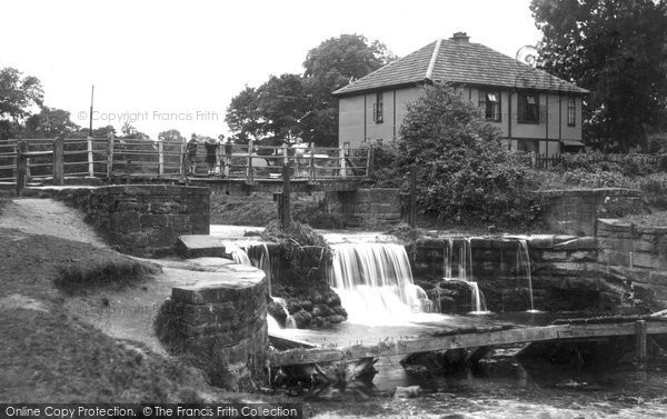 Bersham, Waterfall And Footbridge 1936