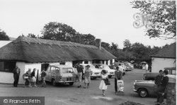 Berwick, Drusillas Park, The Thatched Tea Barn c.1965