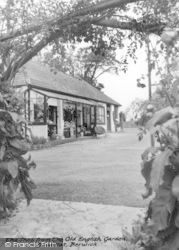 Berwick, The Shop From The Old English Garden, Drusillas c.1965