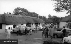 The Thatched Tea Barn c.1965, Berwick