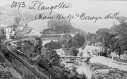 Berwyn, Chain Bridge And Berwyn Hills c.1870