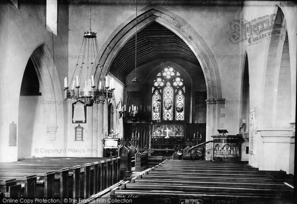 Photo of Betchworth, The Church Interior 1886