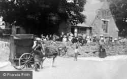 Barrel Organ Outside Glanogwen School c.1907, Bethesda